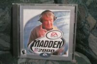 EA Sports Madden NFL 2000 Computer Game Presented by Adidas (CD ROM 1999)