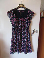 Blue & Pink Butterflies Pattern Lace Front Primark Dress in Size 10 - NWOT