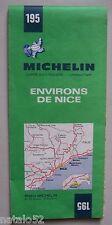 carte MICHELIN 195 environs NICE - 1970