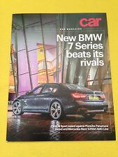 BMW 730d M Sport CAR magazine test reprint 2016 S350d Porsche Panamera MINT 730