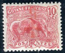 GUYANE 1915 Yvert 73a * KOPFSTEHER ROT KREUZ 300€(D7577