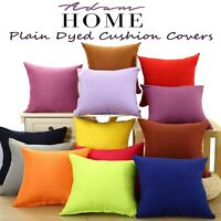 "Plain Dyed Luxury 100% Cotton Cushion Cover For Home Sofa Décor Size 16"" 18"" 20"""
