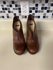 Ugg Australia Womens Shoes Jamison Booties High Heel Leather 1001318 Brown Sz 7
