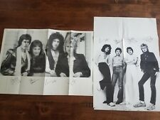 Two rare Queen Freddie Mercury posters issued by Queen fan club