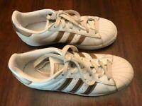 Adidas Originals Superstar Women's US 6 CG5463 Shoes White & Gold