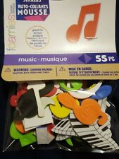 Foam Stickers Music Darice 55 Pieces peel and stick stickers notes piano clef