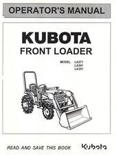 Kubota LA271 LA301 LA351 Front Loader Operators Manual