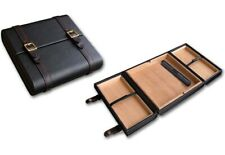 THE Azure Leather Travel Humidor for Cigars