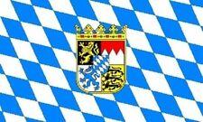 Miniflag Bayern mit Wappen 10 x 15 cm Fahne Flagge Miniflagge