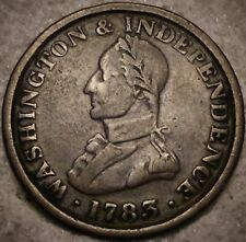 (1783) MILITARY BUST - WASHINGTON & INDEPENDENCE - LADY LIBERTY TOKEN