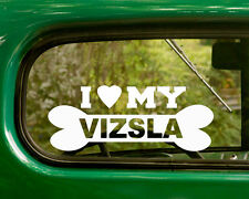 2 I LOVE MY VISLA DOG BREED DECALs Sticker Car Bumper Window Truck Laptop Rv
