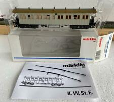 Märklin HO_42142 Express Train Open platform car K.W.St.E. Physician's Coach new