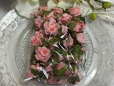 25 Mini Rosen rosa Streurosen Schaumrose Tischdeko Rosen  Taufe Kommunion