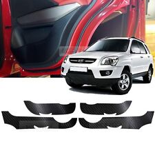 Carbon Door Decal Sticker Cover Kick Protector for KIA 2005 - 2010 Sportage Amex