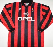 1995-1996 AC MILAN LOTTO HOME FOOTBALL SHIRT (SIZE L)