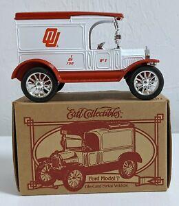 1995 Ertl Oklahoma University Ford 1917 Model T Van Bank Mint 1 of 750 Box & Key