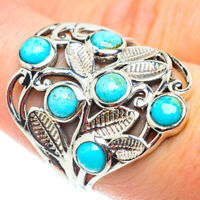 Arizona Turquoise 925 Sterling Silver Ring Size 8 Ana Co Jewelry R54808