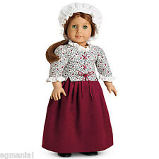 American Girl Doll Felicity's Laced jacket, Skirt andMob Cap-Retired Elizabeth