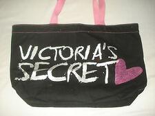 Victoria Secret Tote Bag Shoulder Medium VS Bling Black Pink Gym Bag Messenger
