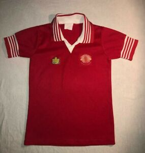 Original Vintage Manchester United Football Shirt FA Cup Winners 1977 1978 RARE