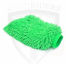 Microfiber Double Sided Car Cleaning Cloth Gloves (GREEN)