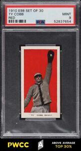 1910 E98 Set Of 30 Red Ty Cobb PSA 9 MINT (PWCC-A)