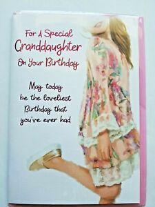 GRANDAUGHTER BIRTHDAY CARD.