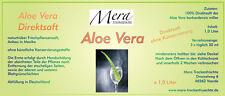 6 x 1 Liter Aloe Vera-Saft in Glasflasche, 100% Direktsaft