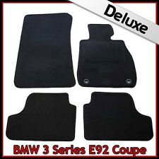 BMW 3 Series Coupe E92 2006-2013 2-Eyelets Tailored LUXURY 1300g Car Mats BLACK
