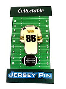 Pittsburgh Steelers Hines Ward jersey lapel pin-Classic styled team Collectable