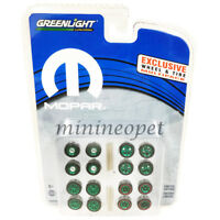 GREENLIGHT 13168 HOBBY EXCLUSIVE WHEELS & TIRES PACK SET 1/64 MOPAR GREEN Chase