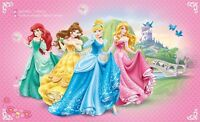 Papel Pintado Fotomural 254x184cm Princesa Disney para las Niñas Dormitorio -