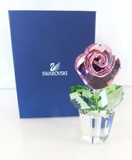 NEW Authentic Beautiful Swarovski Crystal LARGE Pink Rose 872196 Retired
