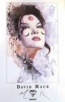 Lee's Comics DAVID MACK fine art print KABUKI, 2001 SIGNED EDITION!