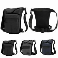Men Motorcycle Tactical Hiking Drop Leg Bag Outdoor Panel Waist Fanny Pack Pouch