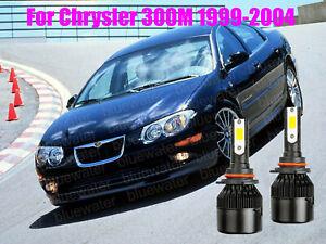 LED For Chrysler 300M 1999-2004 Headlight Kit 9006 HB4 White CREE Bulbs Low Beam