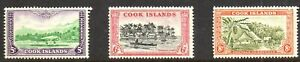 Stamps Br.Commonwealth Cook Islands -1949/61 Selection (3 Values) SG154/156 M/M