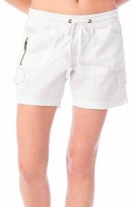 Unionbay Juniors Christy Convertible Pull On Shorts Large White