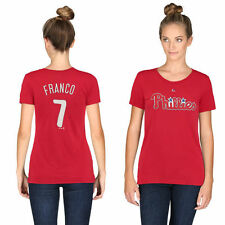 Women's Philadelphia Phillies Maikel Franco Majestic Red Name & Number T-Shirt