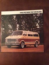 1981 Plymouth Voyager Sales Brochure - Printed 8/80