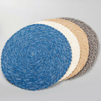 "Braided Placemats 15"" Set of 4 Woven Heat Resistant Non-Slip Kitchen Table Mats"