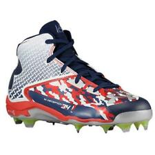 New Under Armour UA Deception Mid DT Baseball Cleats Men's Size 16 Red White Blu
