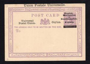 India Sri Lanka (Ceylon) 1870-1935 postcard R!R!R!