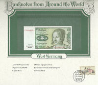 World Banknotes West Germany 1980 5 Mark P 30b UNC Replacement note prefix Y
