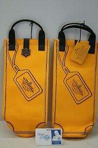Set of 2 Veuve Clicquot Orange Ponsardin Thermal Insulated Shopping Bags