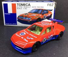 MADE IN JAPAN TOMY TOMICA F62 ALPINE RENAULT A310 RACING TOY CAR 1/60