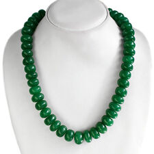 TOP CLASS QUALITY 711.00 CTS NATURAL GREEN EMERALD ROUND BEADS NECKLACE STRAND