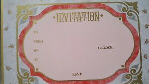 7 Single Card Invitations with Envelopes, Alison J. Jones, Aries Design 1990 IA0