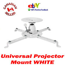 Universal HD LED LCD Video Projector Ceiling Mount White Colour Max 55 Lbs