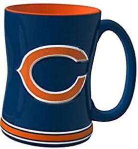 Chicago Bears 14 oz Team Color Sculpted Logo Relief Coffee Mug  - NEW
